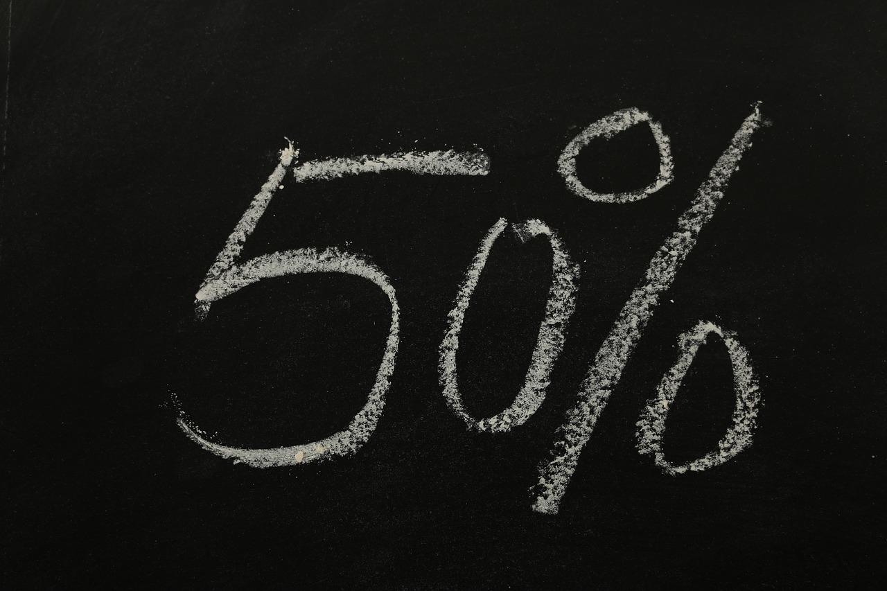 עלייה ב חמישים אחוז